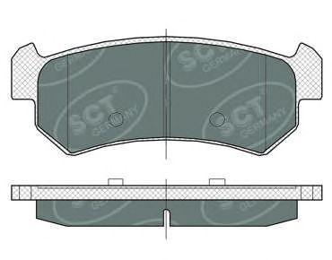 SCT Germany SP 376 PR - Brake Pad Set, disc brake