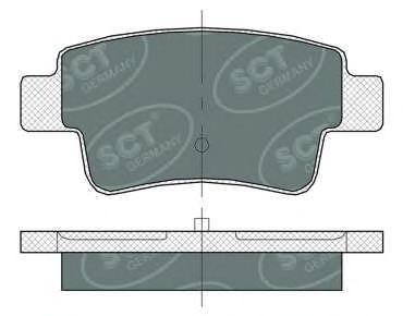 SCT Germany SP 378 PR - Bremsekloss sett