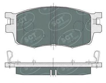 SCT Germany SP 379 PR - Brake Pad Set, disc brake