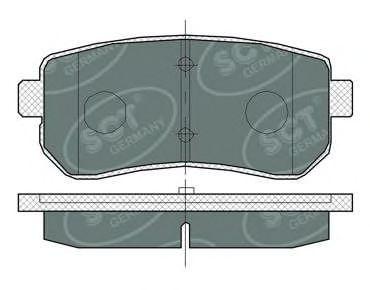 SCT Germany SP 380 PR - Brake Pad Set, disc brake