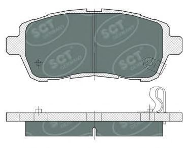 SCT Germany SP 384 PR - Brake Pad Set, disc brake