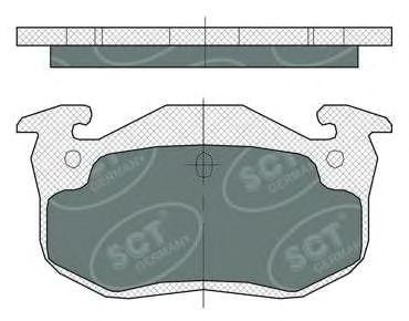 SCT Germany SP 385 PR - Bremsekloss sett