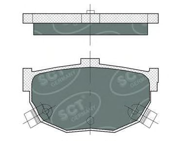 SCT Germany SP 386 PR - Brake Pad Set, disc brake