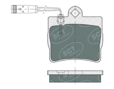 SCT Germany SP 389 PR - Bromsbeläggssats, skivbroms