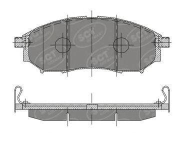 SCT Germany SP 390 PR - Brake Pad Set, disc brake