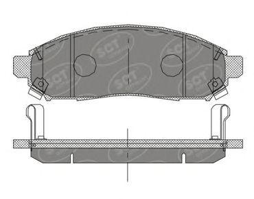 SCT Germany SP 391 PR - Brake Pad Set, disc brake