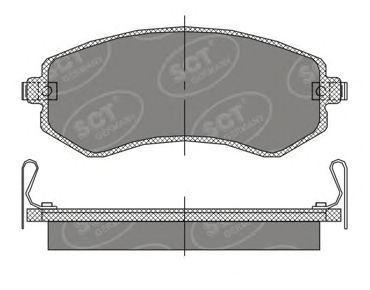 SCT Germany SP 393 PR - Brake Pad Set, disc brake