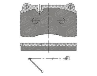 SCT Germany SP 396 PR - Brake Pad Set, disc brake