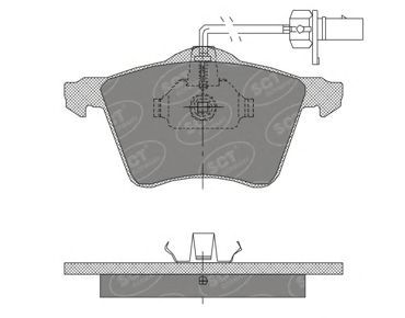SCT Germany SP 402 PR - Brake Pad Set, disc brake