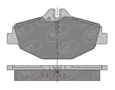 SCT Germany SP 403 PR - Brake Pad Set, disc brake