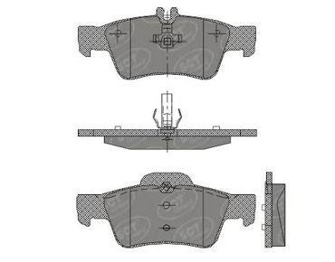 SCT Germany SP 404 PR - Brake Pad Set, disc brake