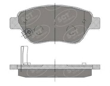 SCT Germany SP 406 PR - Brake Pad Set, disc brake