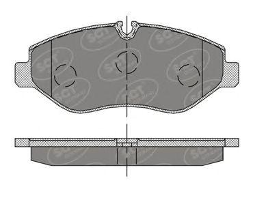 SCT Germany SP 407 PR - Bromsbeläggssats, skivbroms