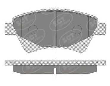 SCT Germany SP 408 PR - Brake Pad Set, disc brake