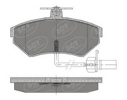 SCT Germany SP 417 PR - Brake Pad Set, disc brake