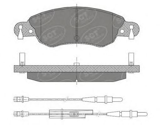 SCT Germany SP 420 PR - Brake Pad Set, disc brake