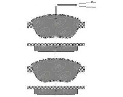 SCT Germany SP 423 PR - Brake Pad Set, disc brake