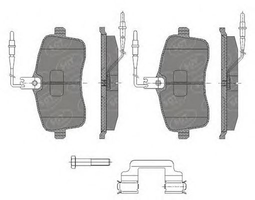 SCT Germany SP 429 PR - Brake Pad Set, disc brake
