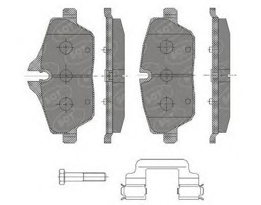 SCT Germany SP 430 PR - Bremsekloss sett