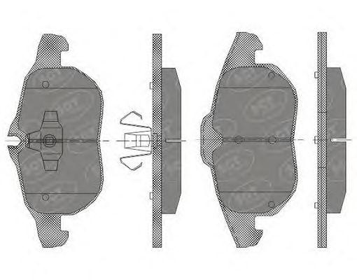 SCT Germany SP 431 PR - Brake Pad Set, disc brake