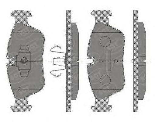 SCT Germany SP 433 PR - Bremsekloss sett