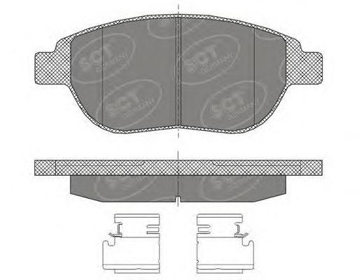 SCT Germany SP 435 PR - Bromsbeläggssats, skivbroms