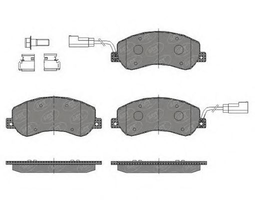 SCT Germany SP 437 PR - Brake Pad Set, disc brake