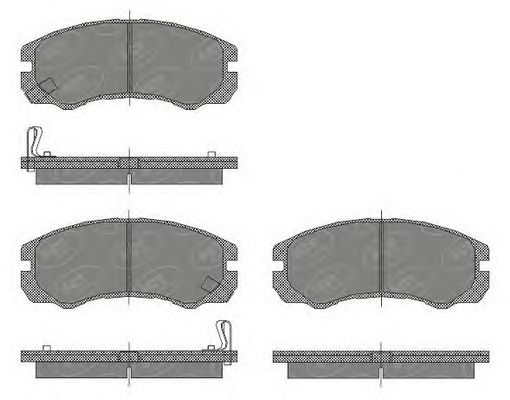SCT Germany SP 438 PR - Brake Pad Set, disc brake