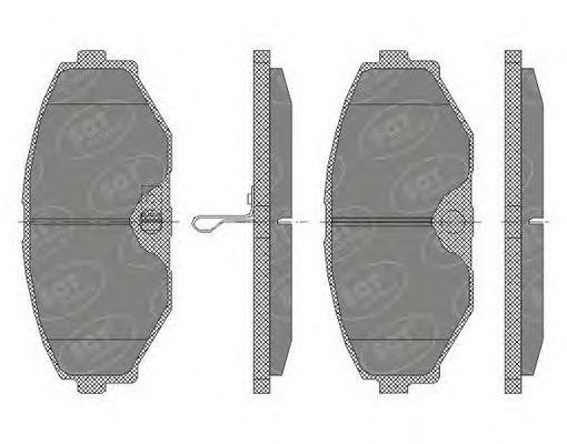 SCT Germany SP 440 PR - Brake Pad Set, disc brake