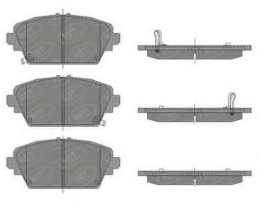 SCT Germany SP 442 PR - Bromsbeläggssats, skivbroms