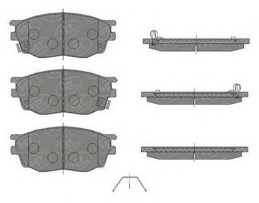 SCT Germany SP 443 PR - Brake Pad Set, disc brake