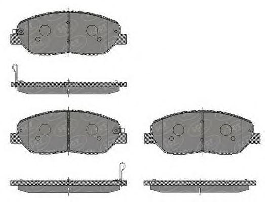 SCT Germany SP 448 PR - Brake Pad Set, disc brake