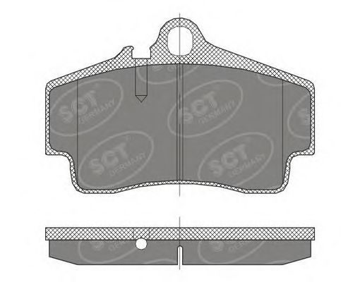 SCT Germany SP 449 PR - Brake Pad Set, disc brake