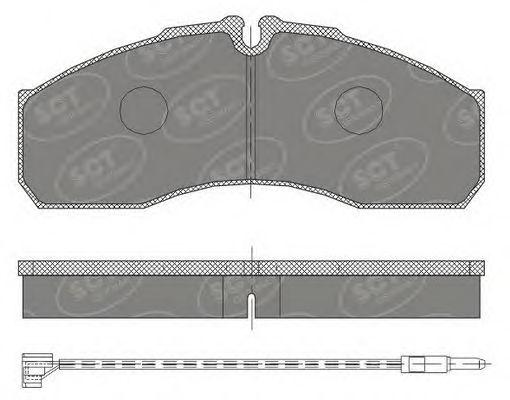 SCT Germany SP 454 PR - Brake Pad Set, disc brake