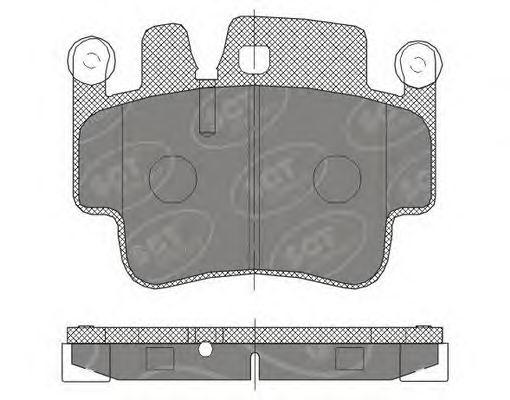 SCT Germany SP 461 PR - Brake Pad Set, disc brake