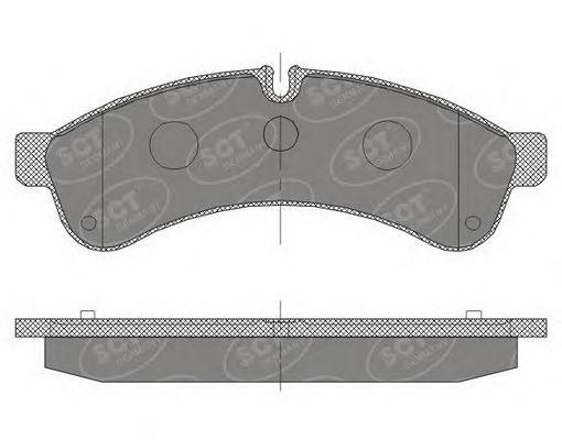 SCT Germany SP 463 PR - Brake Pad Set, disc brake