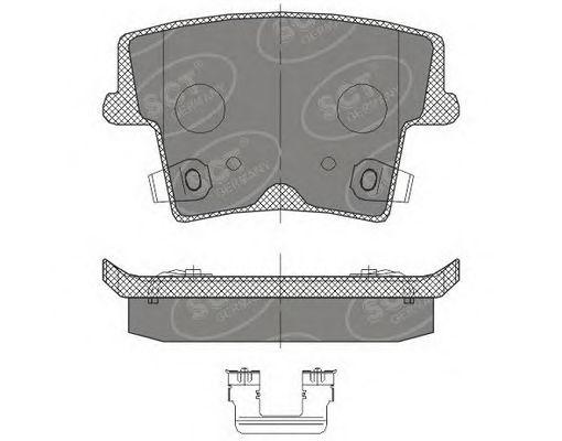 SCT Germany SP 464 PR - Brake Pad Set, disc brake