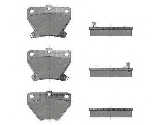 SCT Germany SP 470 PR - Brake Pad Set, disc brake
