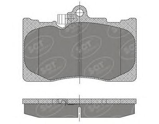 SCT Germany SP 475 PR - Bremsekloss sett