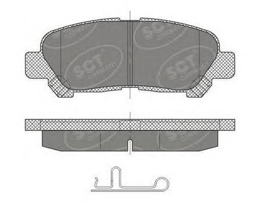SCT Germany SP 481 PR - Brake Pad Set, disc brake