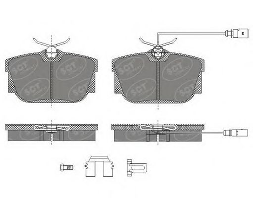 SCT Germany SP 484 PR - Brake Pad Set, disc brake