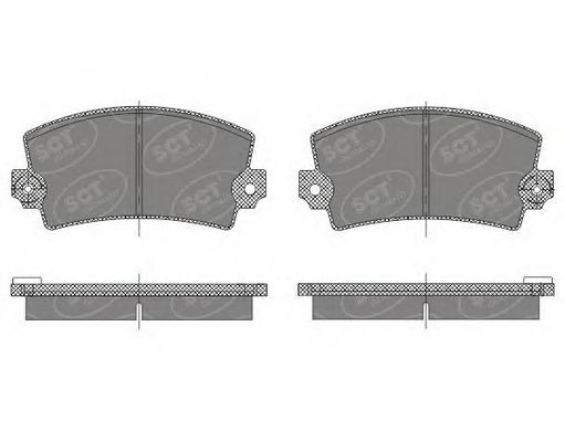 SCT Germany SP 485 PR - Brake Pad Set, disc brake