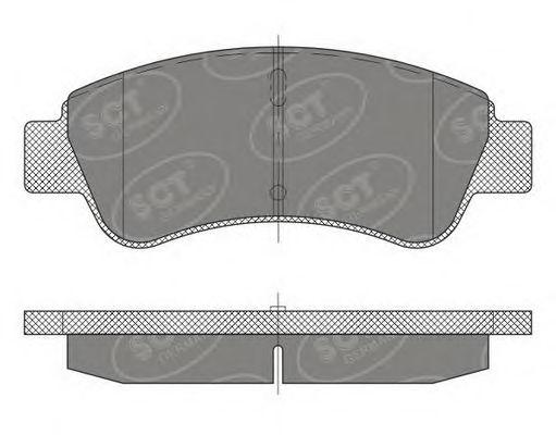SCT Germany SP 488 PR - Brake Pad Set, disc brake