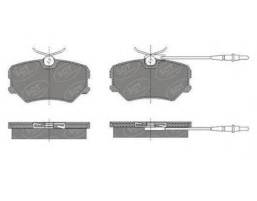 SCT Germany SP 490 PR - Brake Pad Set, disc brake