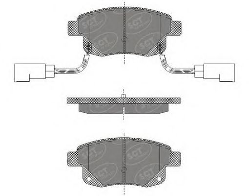 SCT Germany SP 492 PR - Brake Pad Set, disc brake