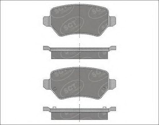 SCT Germany SP 494 PR - Brake Pad Set, disc brake