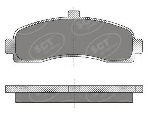 SCT Germany SP 498 PR - Brake Pad Set, disc brake