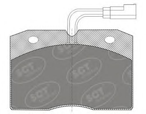 SCT Germany SP 604 PR - Brake Pad Set, disc brake