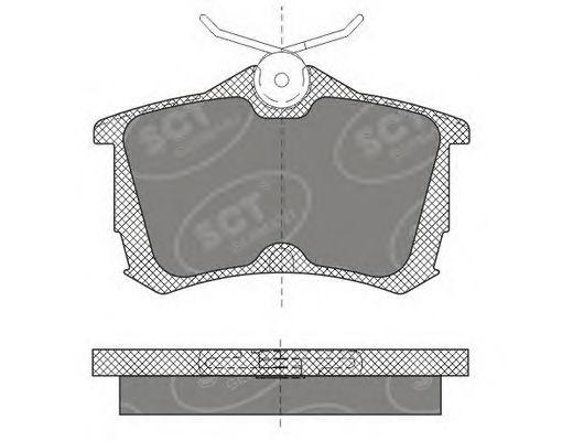 SCT Germany SP 607 PR - Bromsbeläggssats, skivbroms
