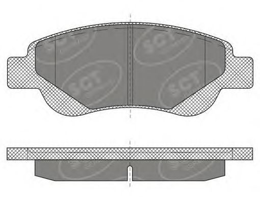 SCT Germany SP 609 PR - Brake Pad Set, disc brake